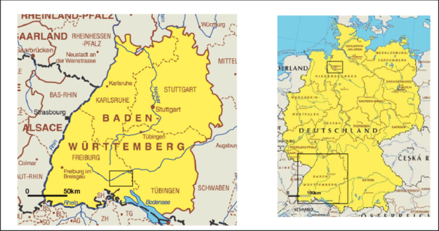 Map-of-Germany-and-the-federal-state-Baden-Wurttemberg