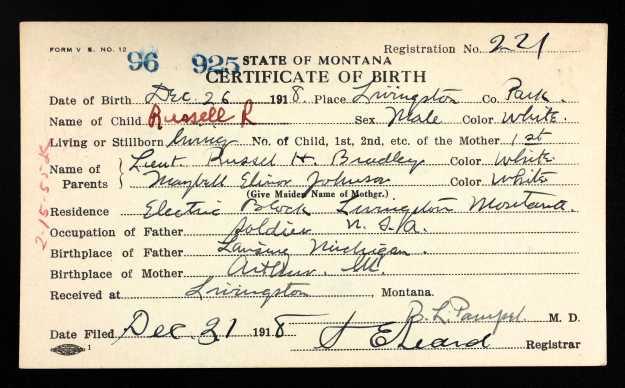 RussellRBradley- Birth Cert