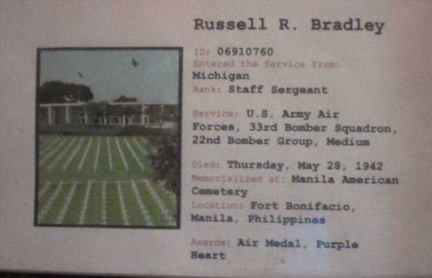 RussellRobertBradley-Burial Card